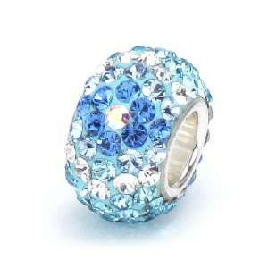 Bella Fascini Turquoise, Aqua, True Blue & Clear Pave Diamond
