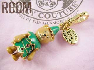 JUICY COUTURE 2010 LIMITED TEDDY BEAR TREE GOLD CHARM