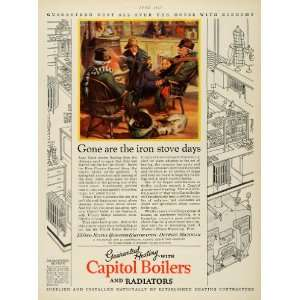 1927 Ad Capitol Boiler Radiator Heating United States