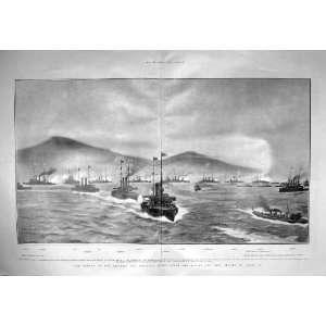 1904 JAPANESE WAR SHIPS PORT ARTHUR FUJI YASHIMA ASAHI