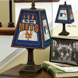 New York Mets 14 inch Art Glass Lamp