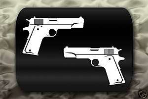 Colt M1911 Pistol Gun decal 2 Stickers