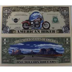 Set of 10 Bills American Biker Million Dollar Bill Toys & Games