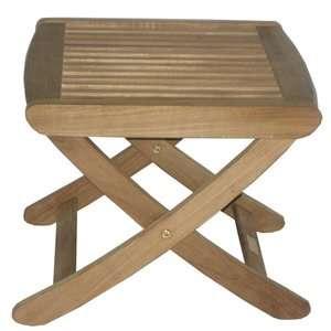 Arbora Teak Solid Teak Foot Stool Patio Furniture