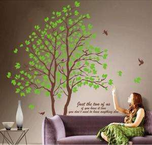 90CM Lovers Tree Removable Vinyl Decal Art DIY Home Decor Wall Sticker