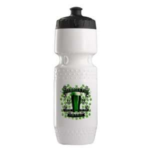 Trek Water Bottle White Blk Shamrock Pub Luck of the Irish