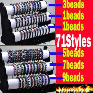 New Disco Pave ball Magnetic Hematite Friendship Bracelets 30 Mix