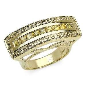 18KY Gold Plated 1.05 Carat princess cut Genuine Yellow