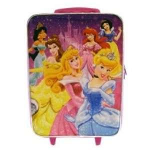 Disney Princess & Castle Sparkling Luggage Backpack W