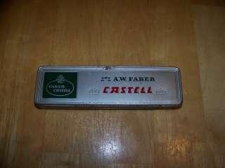VINTAGE FABER CASSELL METAL PENCIL BOX GERMANY L@@K