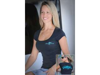 Reel Sassy Marlin Tattoo Scoop Neck T Shirt