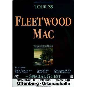 Fleetwood Mac   Tango in the Night 1988   CONCERT   POSTER