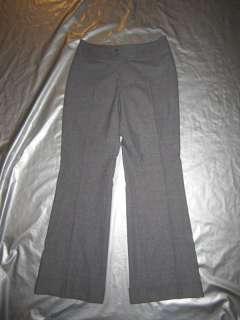 Womens GRAY STRETCH SLACKS Wool Blend Dress Pants Lined Size 6