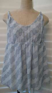BANANA REPUBLIC Women Large NWT $69 Empire SILK Shirt Blouse Top L
