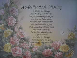 MOTHER IS A BLESSING POEM PERSONALIZED GIFT FOR MOM