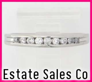 Platinum Round Diamond Anniversary Band Ring .27ct