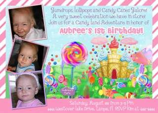 CANDYLAND CANDY LAND CUSTOM BIRTHDAY INVITATIONS