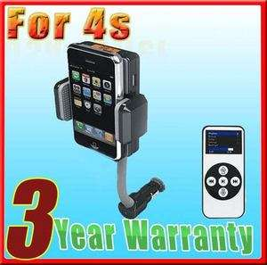 Car FM Radio Transmitter/Charger Accessory For iPod Apple iPhone 4G 4S