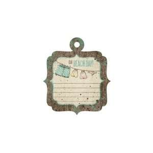 Down The Boardwalk Beach Day Embossed Tag (We R Memory