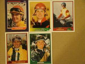 HORSE RACING, JOCKEY CARDS,(LOT 5) ERIC PAUL ATKINSON