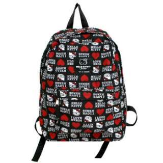Product Name Hello Kitty I Love Nerds Canvas Backpack