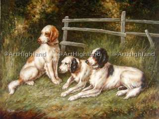 Dog Oil Paintings Canvas Thomas Blinks English Setters