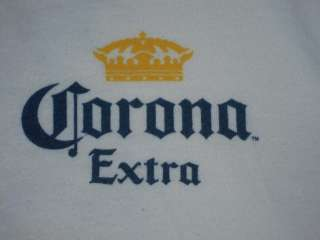 CORONA DE MAYO EXTRA CINCO BEER CERVEZA RELAX BEACH PARTY T SHIRT L