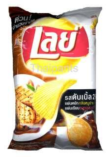 New Lays potato chip cripspy snack food Roast pork BBQ