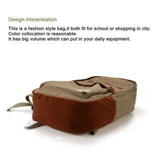 New Brown Canvas Fashion Casual School and Travelling Backpack Bag 666