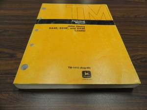 Deere 544E   624E   644E Loader Technical Service Manual TM1413 |