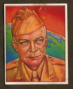 1951 Bowman Red Menace Trading Card #24 General Ike