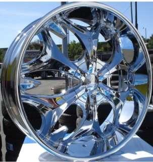 Wheel + Tire Packages 22 inch Triple chrome rims B3