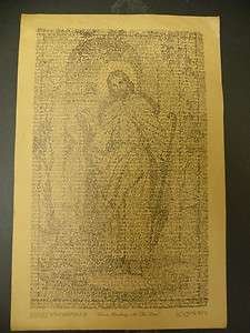 Christ Knocking At The Door Print of A written picture 11 X 7 1/4