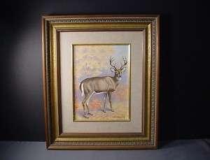 Listed Artist Walter Joseph Wilwerding Wildlife Deer MN