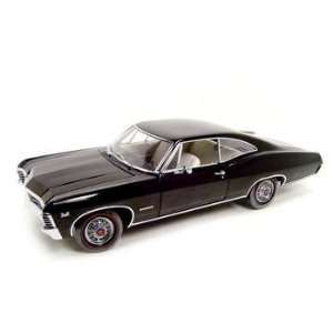1967 Chevy Impala Ss 396 Black 1:18 Ertl Authentics: Toys