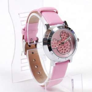 Mickey Mouse Girls Wristwatch Wrist Watch Pink Toys