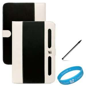 / White Book Style Leather Case Cover for Samsung Galaxy Tab 10.1