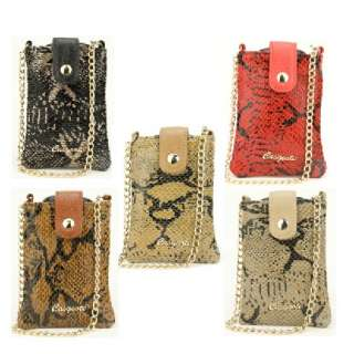 Women Genuine Leather Cell phone Iphone 4 Case Card Bag Python Snake