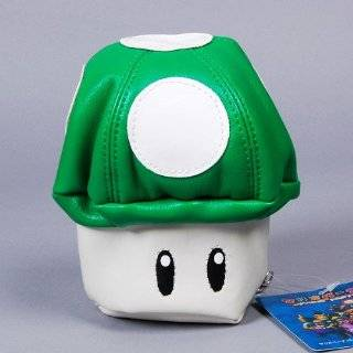 Super Mario Bros. Mushroom Wallet Mini Purse Green