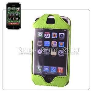 Green Apple iPhone Premium Leather Vertical Holster Case