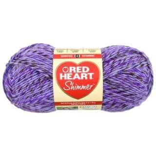 Red Heart Shimmer Yarn, Purple Haze, 3.5 oz Crafts