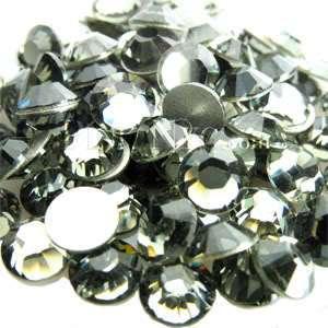 SS30 Black Diamond Swarovski Crystal Flat Back Crystals