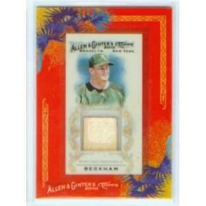 com Gordon Beckham 2010 Topps Baseball Allen & Ginters Game Used Bat