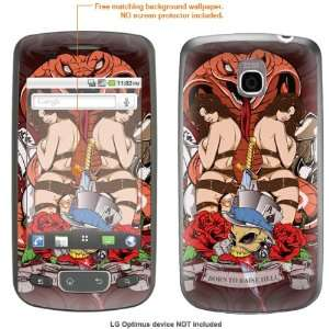 STICKER for T Mobile LG Optimus case cover Optimus 121 Electronics