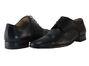 Bally Mens Drillor Black Leather Lace up Casual Oxfords Fashion Dress