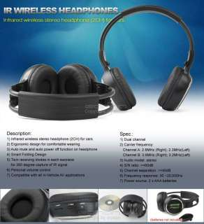 Pair 7 inch DIGITAL Car Headrest DVD Grey Eonon C1031 Headphone
