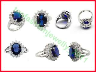 2pcs Royal Engagement Collection Silver Plated Ring 0/P