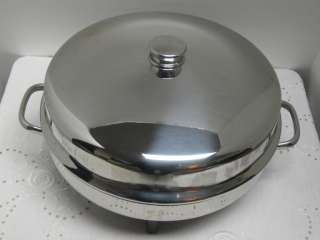 12 Electric Skillet Model 344A Fry Pan High Dome Controller
