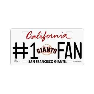 San Francisco Giants #1 Fan Metal License Plate *SALE