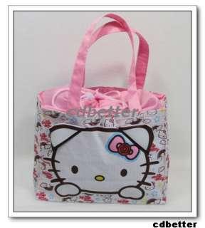 Hello Kitty Drawstring Pink Picnic HANDBAG TOTE BAGS